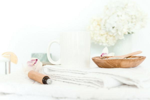 Cup and towel - work life balance