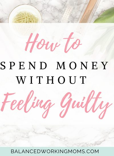 "flowers and candle with text overlay-""How to spend money without feeling guilty"""