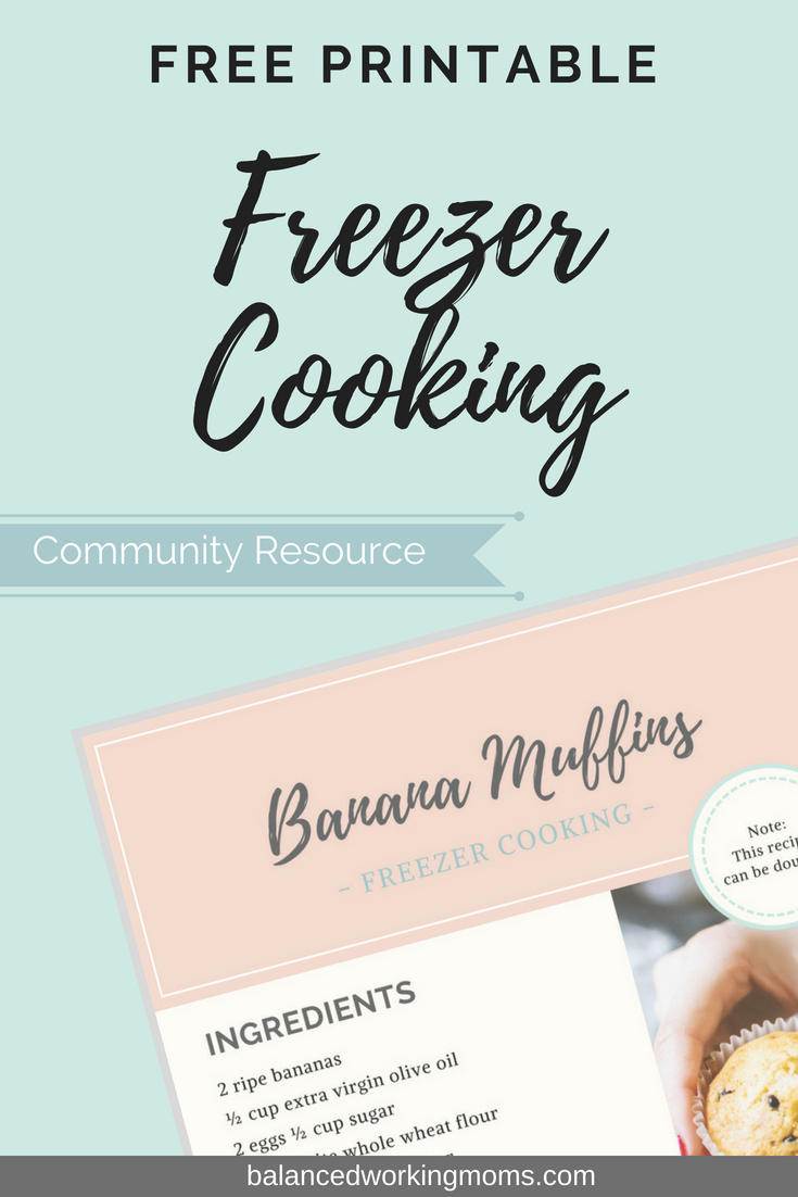 Free recipe for banana muffins that freeze well