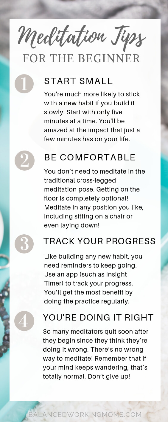 nformation Graphic - Info Graph with meditation tips for the beginner meditator